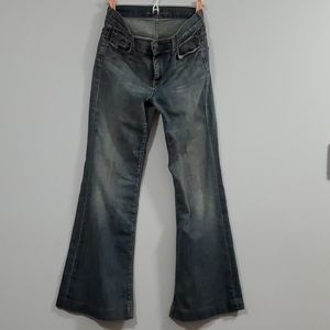 7 For All Mankind Ginger Jeans Flare Wide Leg